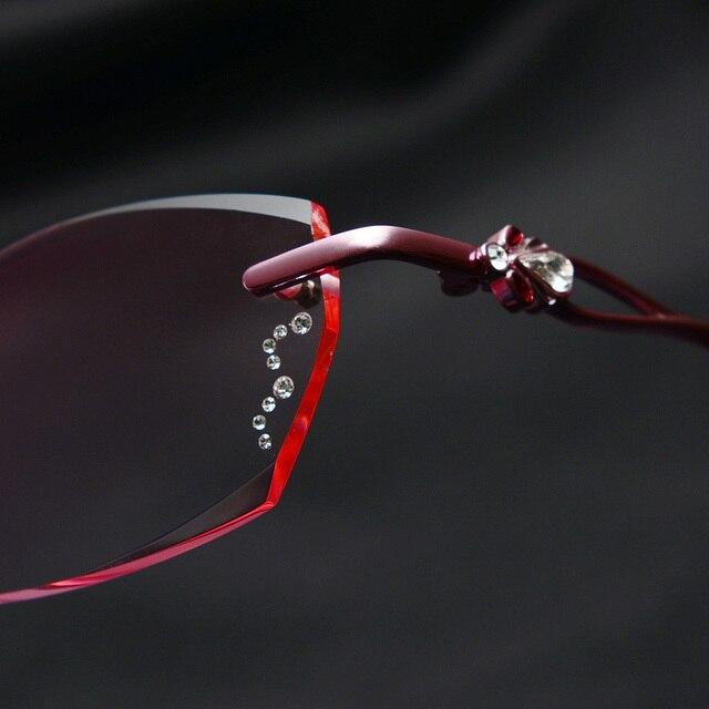 1bc124bac0 pure titanium rimless glasses frames for women frameless eyeglass High  Quality luxury Rhinestone Cut Prescription optical75047