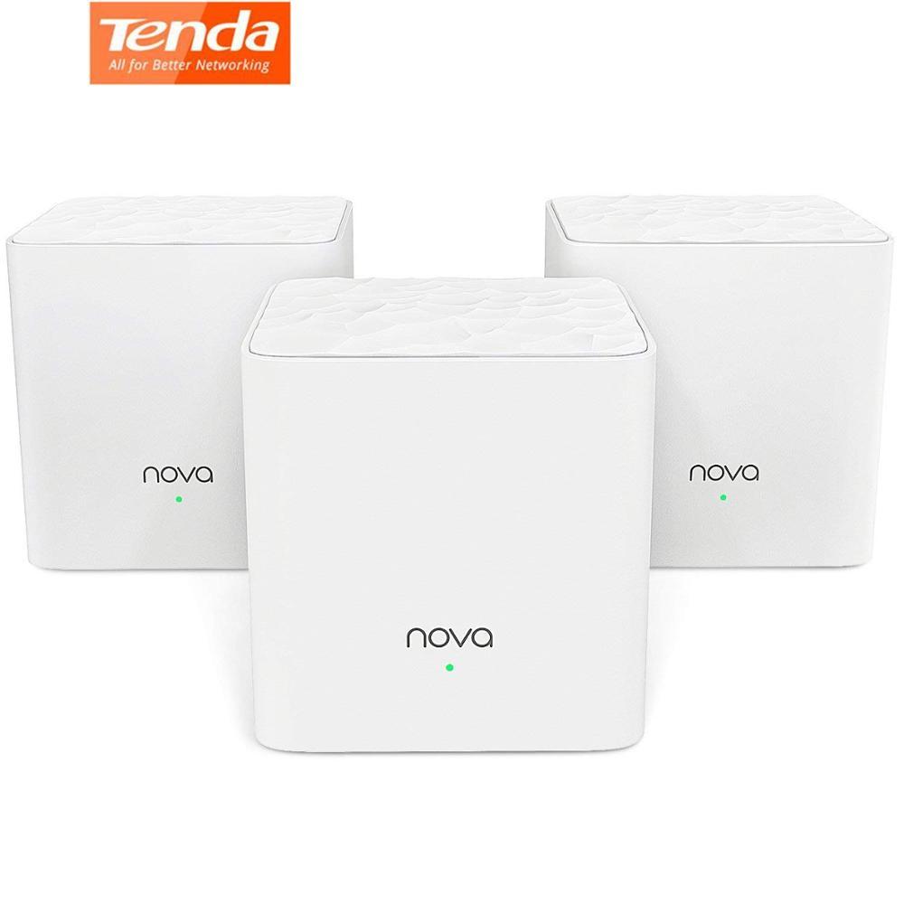Tenda Nova MW3 Wifi Smart Router AC1200 Dual Band 2.4/5Ghz Whole Home Wi Fi Coverage Mesh WiFi System Wireless Bridge APP Manage