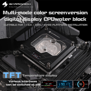 Image 3 - Barrowch FBLTFHI 04N V2, Per Intel Lga115X/X99/X299 CPU Blocchi di Acqua, Temperatura Display Digitale Microwaterway