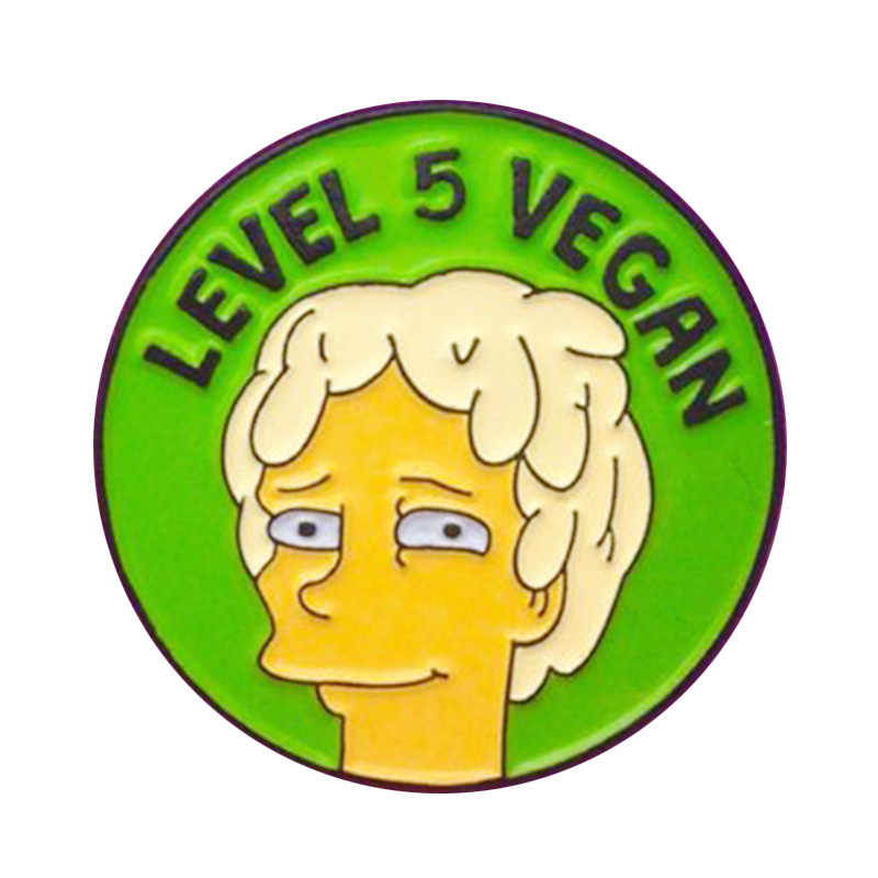 Nível 5 vegan pin. Os Simpsons Broche