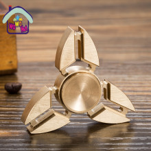 Fidget Toy Brass EDC Hand Spinner For Autism and ADHD Anxiety Stress Relief Focus Toys Kids Gift Yellow copper