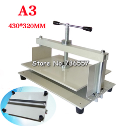 1PC A3 size Manual flat paper press machine for photo books, invoices, checks, booklets, Nipping machine