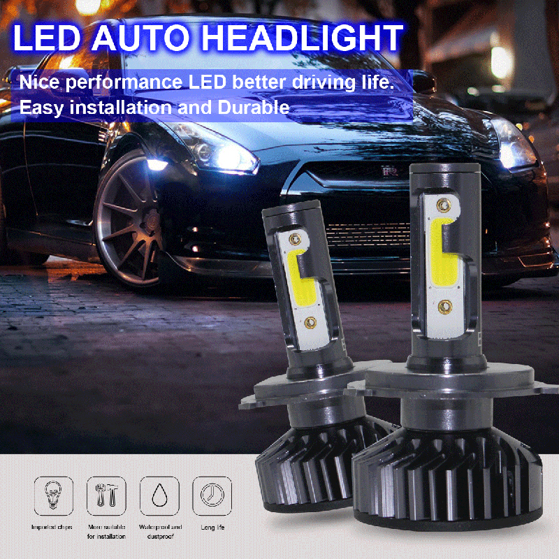 60W 12V H4 LED Lamps Hi-Low Beam 9005 Hb3 9006 HB4 H3 H1 H7 Led Headlight H8 H11 Fog lights Auto light bulbs for cars 6000K A6 car led lights 9005 spot car lights source 30w headlights 6000k comet series for drl fog light high beam low beam upgrade