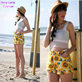 Classical American apparel AA Sunflower Print High Waist Shorts Women Short Pants Feminino de cintura alta faldas y shorts