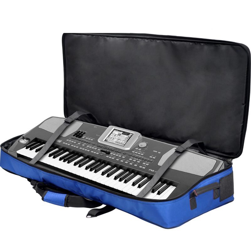 Luxury Professional protable 61 76 key keyboard electronic organ bag  piano backpack soft gig package case cover  good quality wholesale luxury professional protable trumpet bag 600d soft pocket case durable cover good quality backpack shoulder withstrap