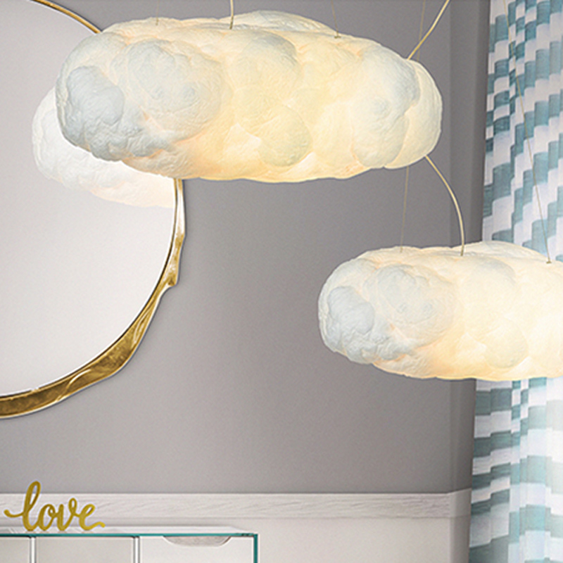 Modern Creative Romantic White  Clouds Pendant Lights Led Lightning Effect Lamp White Soft Floating Cotton Cloud Hanging Light moschino light clouds edt 50мл moschino moschino light clouds edt 50мл