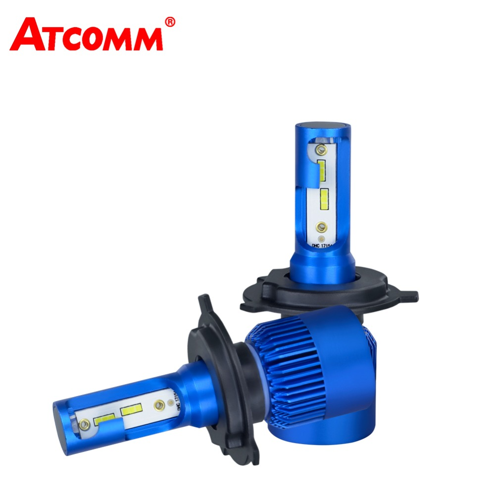 ATcomm H1 H4 H7 H11 LED Bulb hi/lo Beam 12V Mini 10000Lm 6500K 72W CSP Chip H8/H9 Ampoule LED Voiture For Auto Car Light h7 csp led headlight single beam car led headllamp bulb 6500k 8000lm auto light source for philips chip automoveis carro voiture