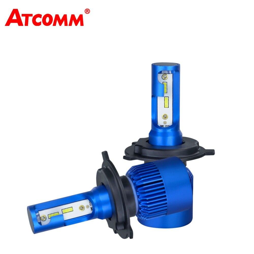 Atcommбыл H1 H4 H7 H11 светодиодный Лампа hi/lo луч 12 В мини 10000Lm 6500 К 72 Вт CSP чип H8/H9 ампулы светодиодный <font><b>Voiture</b></font> для авто свет