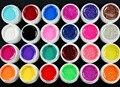 2016 Новых Природных 24 Шт. Mix 12 Чистая 12 Блеск Цвета UV Геля Строителя для Nail Art Fasle Советы Набор