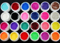 2016 New Natural 24 Pcs Mix 12 Pure 12 Glitter Color UV Builder Gel for Nail Art Fasle Tips Set