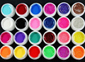 2016 Nueva Natural 24 Unids Mix 12 Pure 12 Color Brillo UV Gel del Constructor para Nail Art Fasle Tips Set