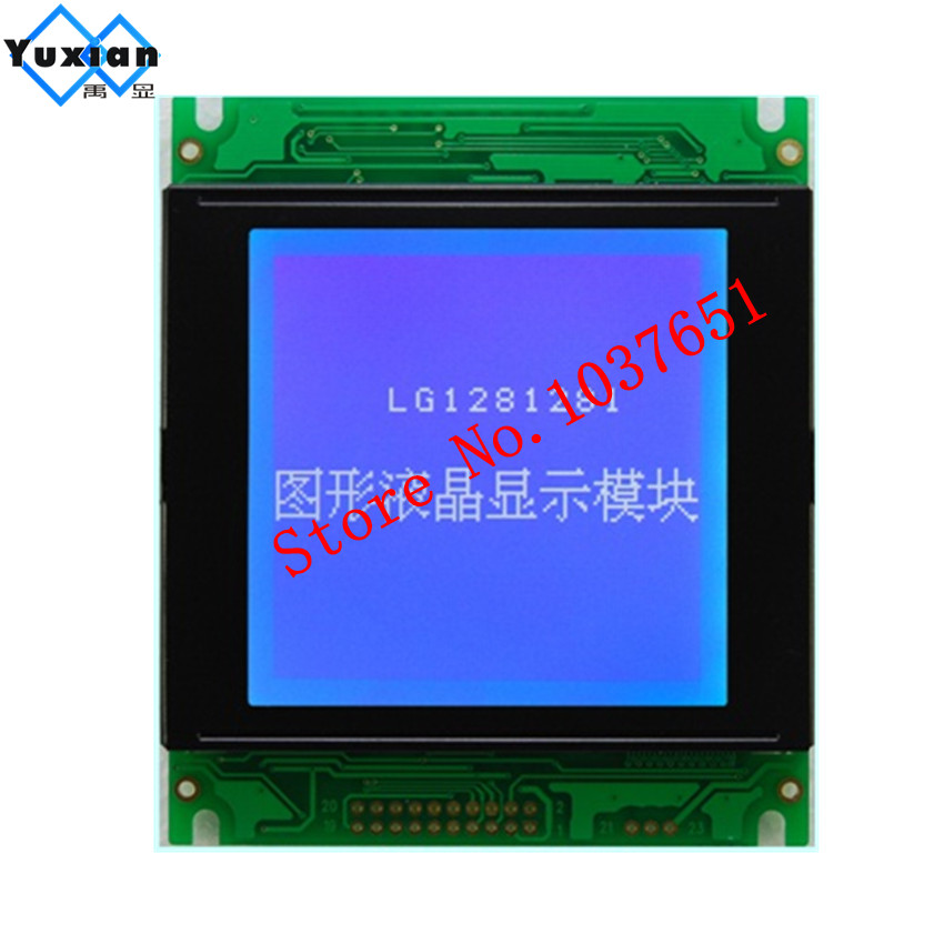 1PCS 128128 128X128 lcd display panel graphic module blue 85X100mm T6963C UCI6963 20PIN WG128128A LG1281281 good