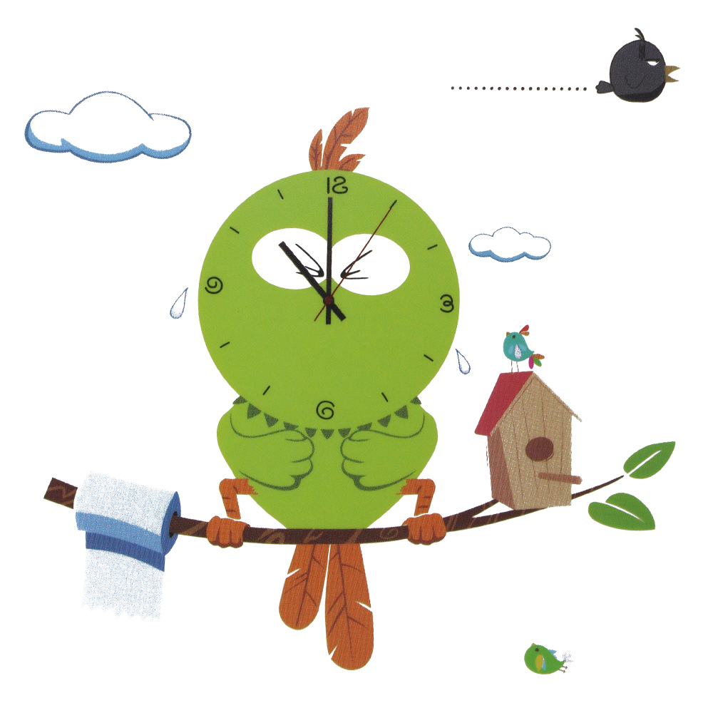 2017 Hot Novelty Mascot Owl Wall Clock 3D DIY Wall <font><b>Sticker</b></font> Cartoon Bird Style Vinyl Real Clocks Home Decor <font><b>Children</b></font> Gift