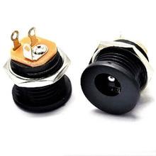 Разъем DC Мощность гнездо с гайкой dc-022 DC контактный разъем 2.1 мм Внутренний Диаметр 5.5 мм в
