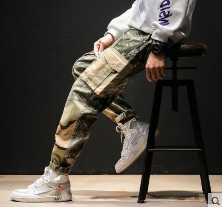 Lâche Camo De 2019 Pantalon Salopettes Multi poche Coréenne Camouflage Legging Sand Marée D'étudiant branch Hommes Nouvelle Version Taille cJFlK1