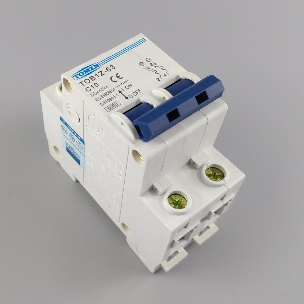 2P 10A DC 440V Circuit breaker MCB C curve 2p 10a dc 440v circuit breaker mcb