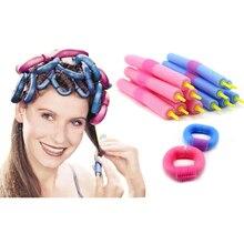 12 Unids Soft Foam Aniones Bendy Torcedura Colorido Plástico Fabricantes de Flexi Varillas Bigudíes de Pelo Rodillos de Pelo Rizos DIY Estilismo herramientas