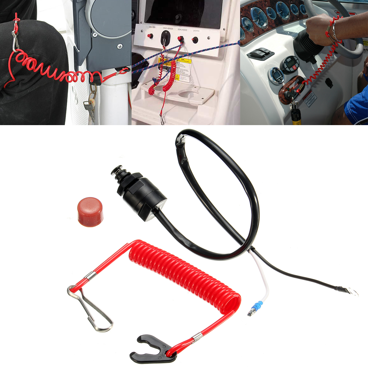 Outboard Cut Off Boat Motor Emergency Kill Stop Switch Safety Tether Wiring Diagram For Yamaha Tohatsu Switches