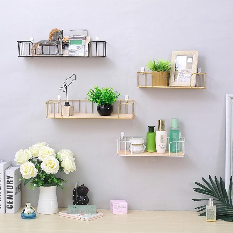 glamorous wrought iron kitchen wall shelves | Ins Style Wall Shelf Wrought Iron Partition Decorative ...