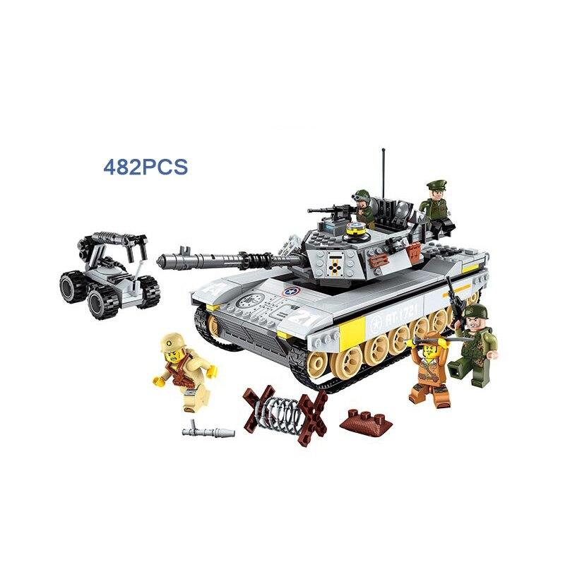 Guerre mondiale champ de bataille batisbriques réservoir sur bloc de construction ww2 armée force chiffres mine destruction véhicule briques jouets pour garçons
