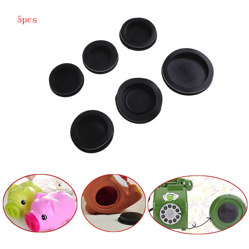 5Pcs Hot Sale 34mm-50mm Rubber Money Saving Box Piggy Bank Closure Plug Stopper Cover