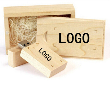 Brand NEW Personalized Wooden usb + wooden box DIY LOGO USB 2.0 Memory flash stick pen drive for computer