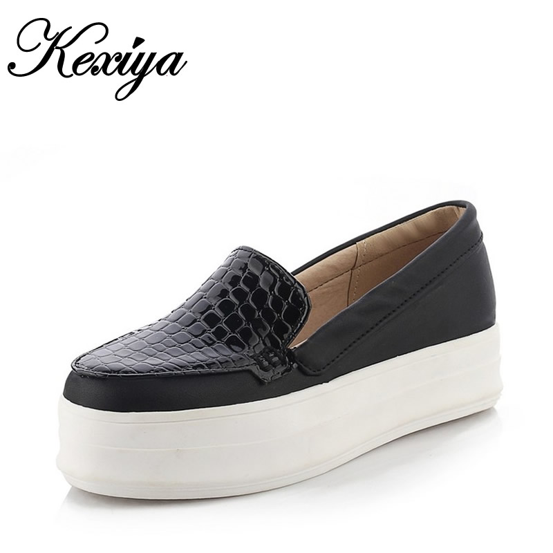2015 Fashion Spring/Autumn women shoes big size 32-43 Casual solid Round Toe Slip-On Platform flats zapatos mujer GT-C-32 memunia 2017 fashion flock spring autumn single shoes women flats shoes solid pointed toe college style big size 34 47