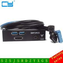 """Высокое качество USB 3.0 2 Порты и разъёмы FireWire 1394B 1394 Мощность ESATA спереди Панель 3 5 """"флоппи-Бей Бесплатная доставка номер отслеживания"""