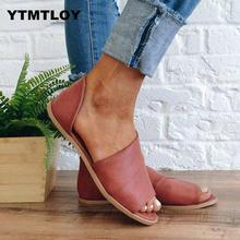 Plus Size 35-43 Women Flat Summer Sandals Ladies Gladiator P