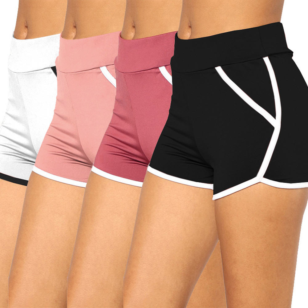 Womail Women   shorts   Summer Sports   Shorts   Gym Workout Waistband Running   Shorts   Elastic Waist fashion Lady dropship j18
