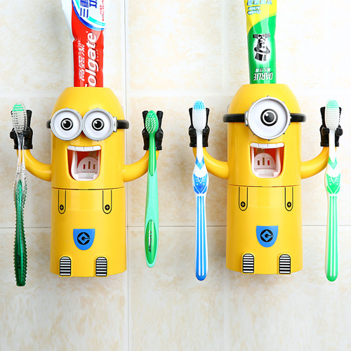 Superb 1 PCS Toothpaste Dispenser Bathroom Accessories Automatic Voothpaste  Dispenser Kids Plastic Bathroom Set With Cup Part 9