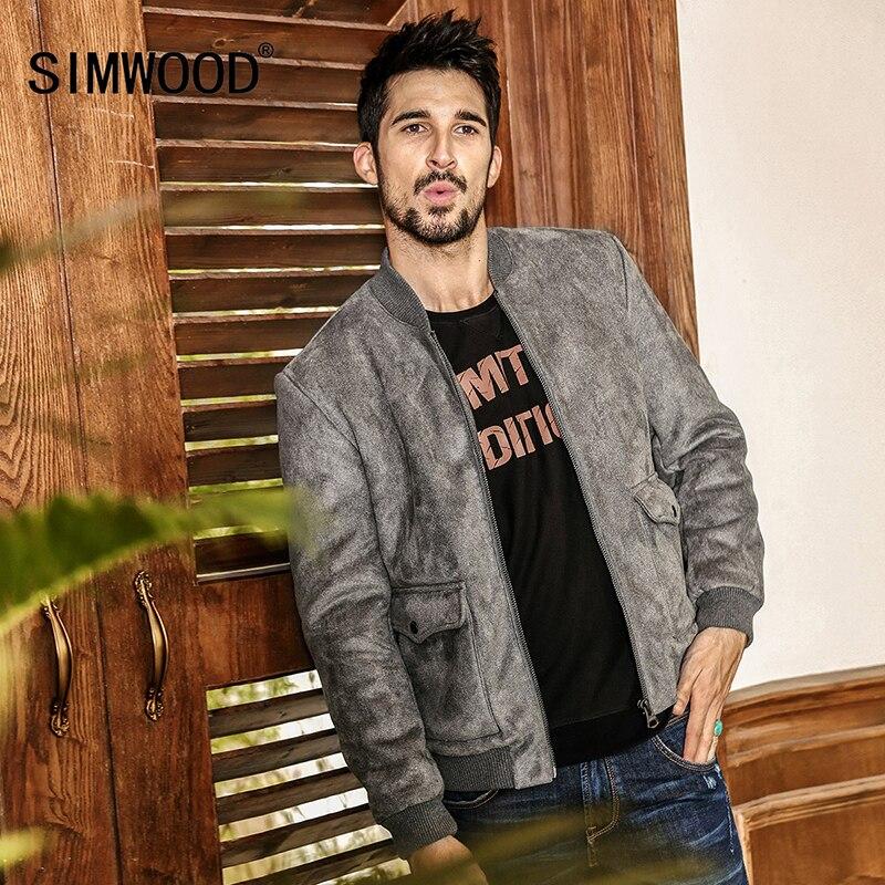 SIMWOOD 2019 Nouveau Printemps Hiver Bomber Veste Hommes Mode Casual Manteaux Marque Vêtements WJ1653