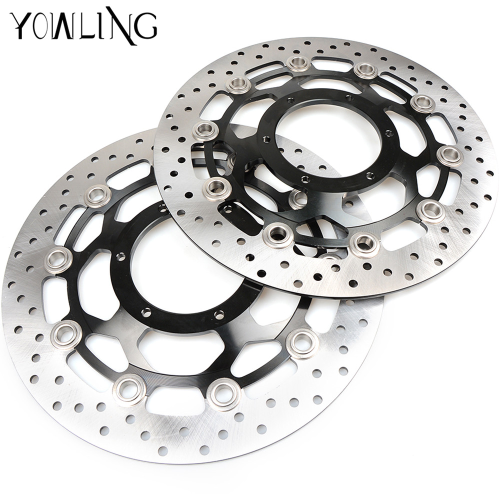 Motorcycle Front Floating Brake Discs Rotors for Honda CB1300 2003 2004 2005 2006 2007 2008 2009 CBR1000RR CBR 1000 RR 2004-2005 engine slider protectors for honda cb1300 2003 2004 2005 2006 2007 2008 anti crash pads falling protection protective cb 1300