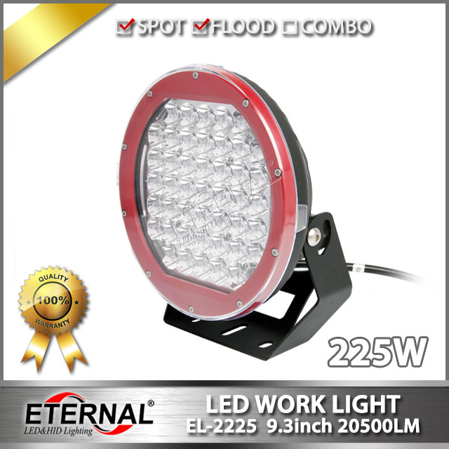 2pcs 225W driving light ARB high power round off road rubicon wrangler 4x4 powersports ATV UTV RV  led work driving lamp