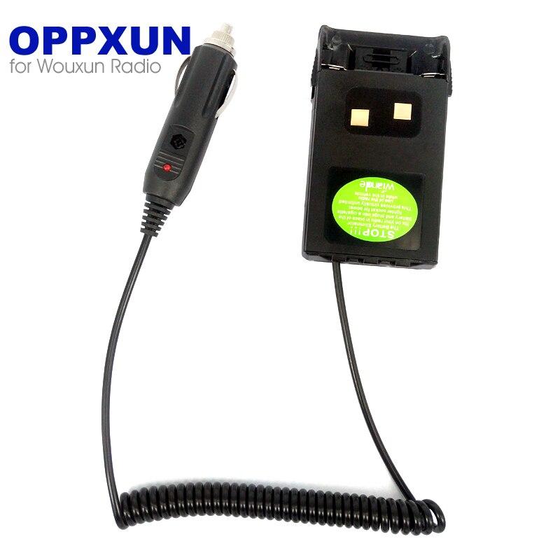 Borrow Electricity Battery Eliminator Adapter For Wouxun KG-UVD1P UV-UV6D KG-669 KG679 Walkie Talkie Radio 12V Cigarette Lighter