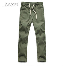 fd12f3b654 Laamei Summer Linen Beach Pants Men's Quick Dry Trouser Male Solid Fitness  Straight Pants Plus Size Lightweight Drawstring Pant