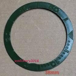 Бесплатная мм доставка 38 мм зеленый керамический ободок вставка часы подходят Автоматические Мужские Часы Ободок
