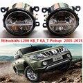 Para mitsubishi l200 kb_t ka_t pickup 2005-2015 faróis de neblina led car styling nevoeiro conjunto da lâmpada 1