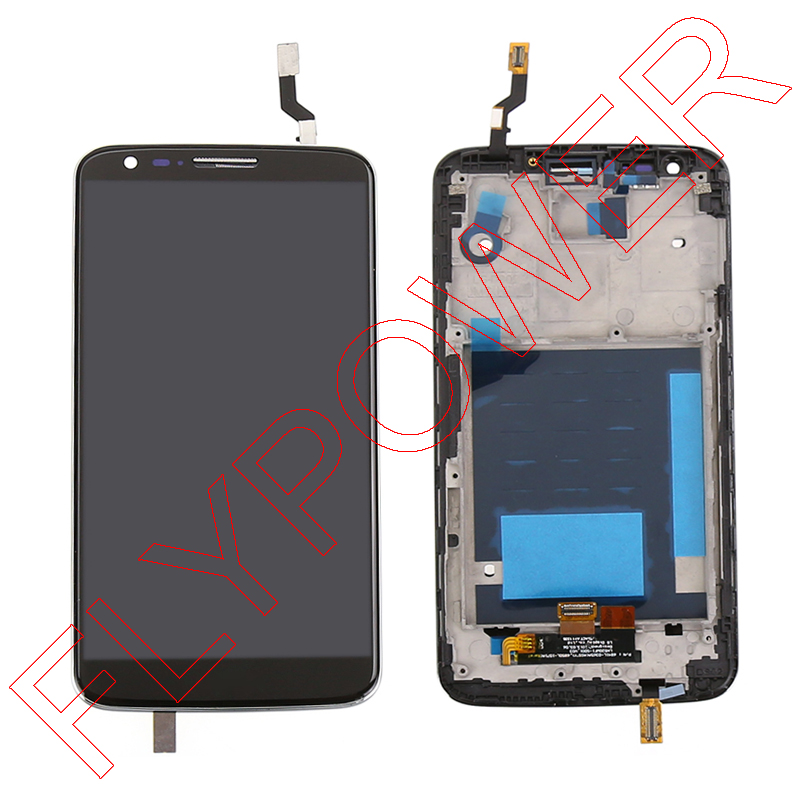 ФОТО 100% New lcd for LG G2 D802 D805 LCD Display Touch Screen Digitizer Assembly + Frame Bezel Assembly; Short flex; 100% Warranty
