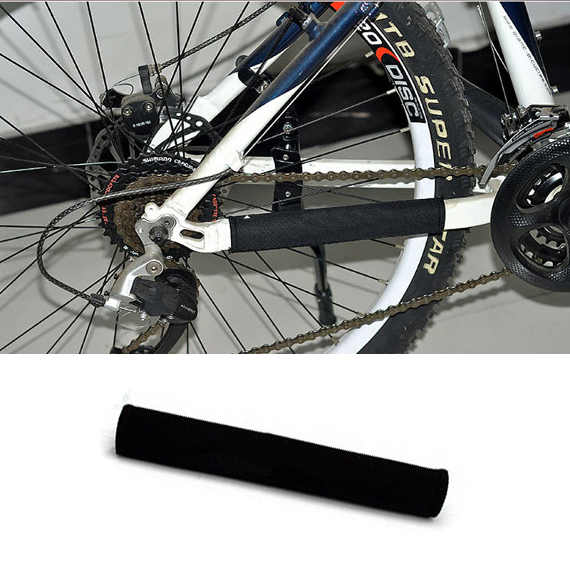 New Outdoor Bike Cycling Bicycle Frame Gear Chain Care Cover Chain Stay Posted Prot Protector Guard Pad Bike Accessories Black
