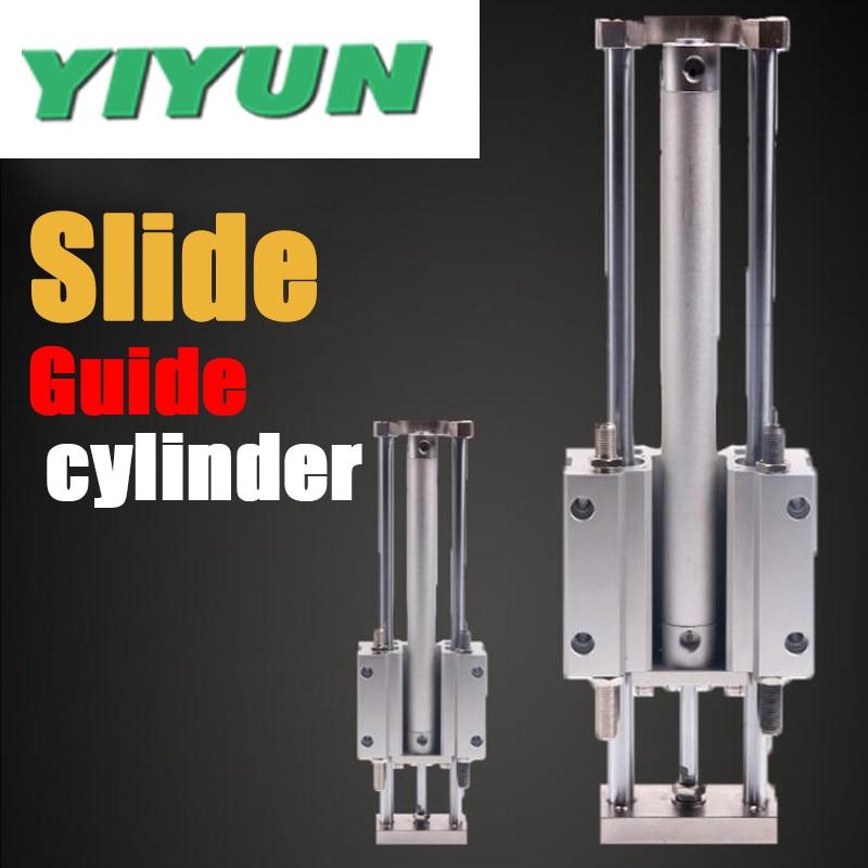 YIYUN Trois axes cylindre sans tige De Guidage cylindre MGGMB20-75 MGGMB20-100 MGGMB20-125 150 200 250 300 350 400 500 MGG série