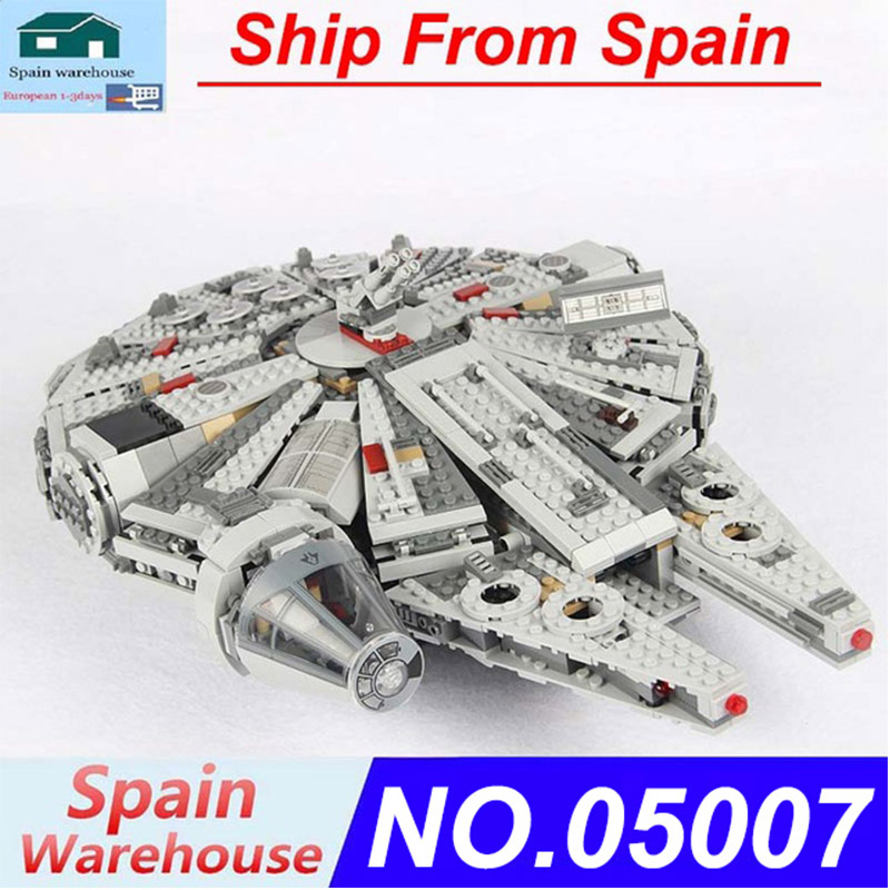 05007 1381pcs Force Awakens Millennium Star Ship Figure Falcon Building Blocks Star Plan Wars 79211 Children