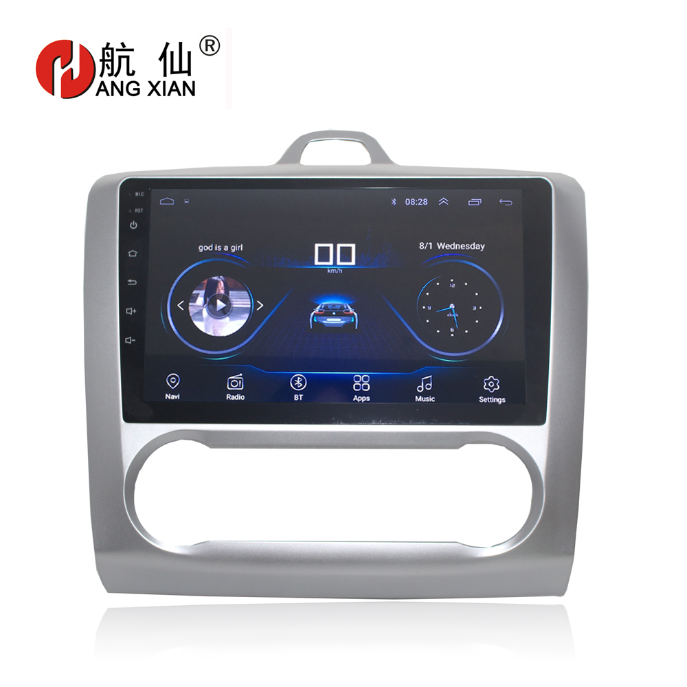 HACTIVOL 9 1024*600 Quadcore android 8.1 car radio for Ford Focus 2 2005 2006 2007 2008 2009 2010 2011 car DVD player gps navi