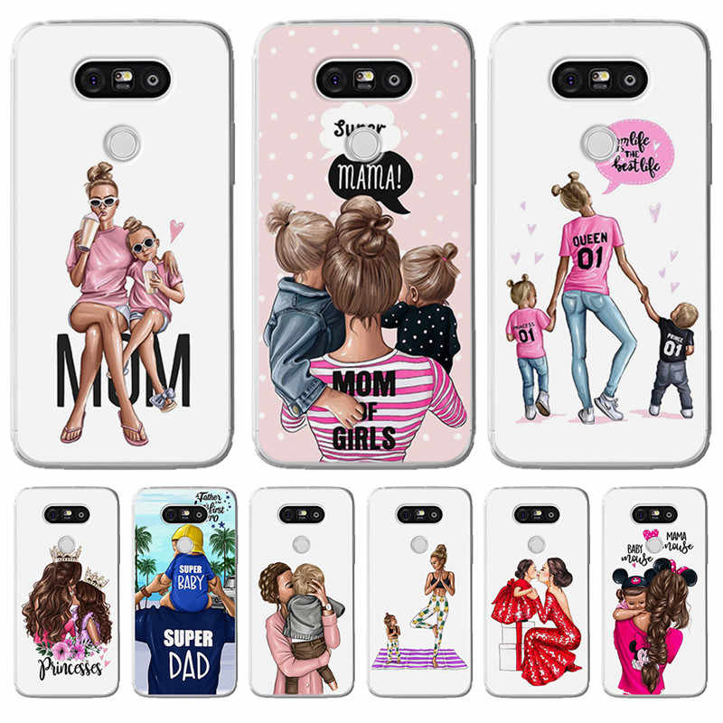 Luxury cartoon Baby Mom Girl Queen Woman For LG G 4 5 6 Q 6 8 K 4 7 8 10 2017 X power 2 screen phone Case Cover Funda Coque Etui