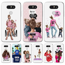 Luxury cartoon Baby Mom Girl Queen Woman For LG G 4 5 6 Q 8 K 7 10 2017 X power 2 screen phone Case Cover Funda Coque Etui