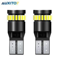 2PCS T10 LED CANBUS W5W 194 168 3014 SMD W5W Signal Lamp No OBC Error LED Bulb for BMW E87 X3 E83 E60 E46 E90 E39 x5 e53 E36