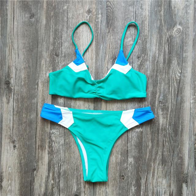 sexy brazilian bikini patchwork swimsuit