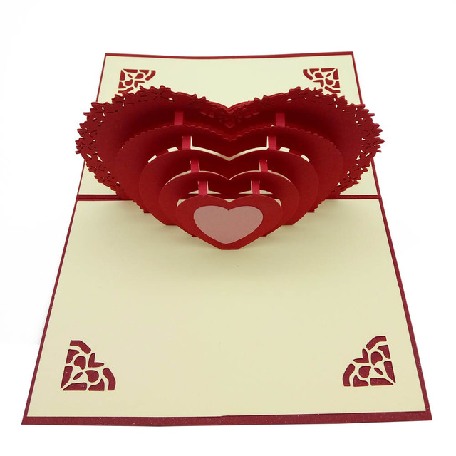 3d pop up romantic love heart paper cards lovers couple greeting 3d pop up romantic love heart paper cards lovers couple greeting cards valentine day postcards 2018ing m4hsunfo