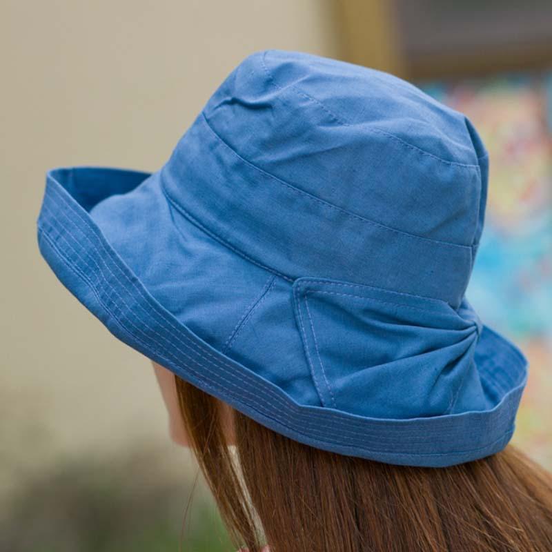 Gratë Bowknot Sun Hat, Dizajn Hats Peshkatar Beach Beach, Anti-UV - Aksesorë veshjesh - Foto 6