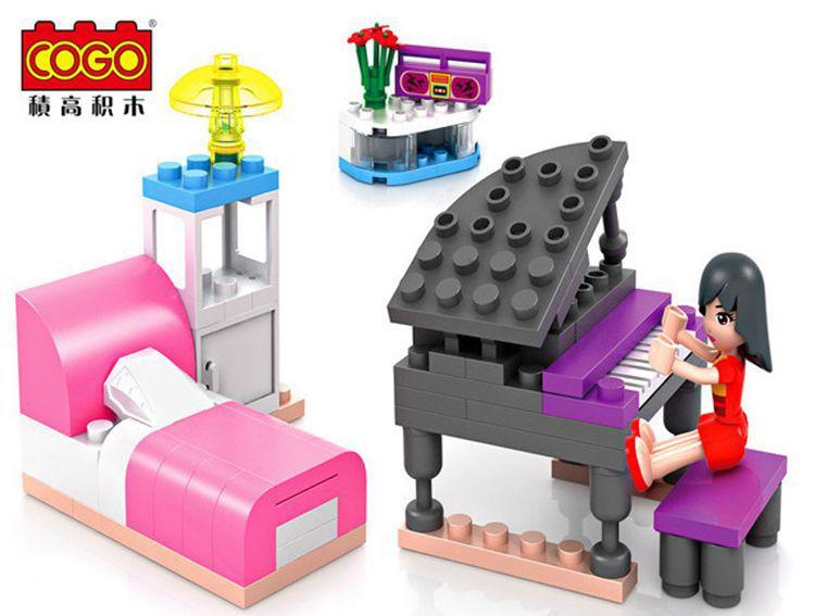 Cogo14524 Dream girl practice before sleep Model Building block Minifigure font b action b font font